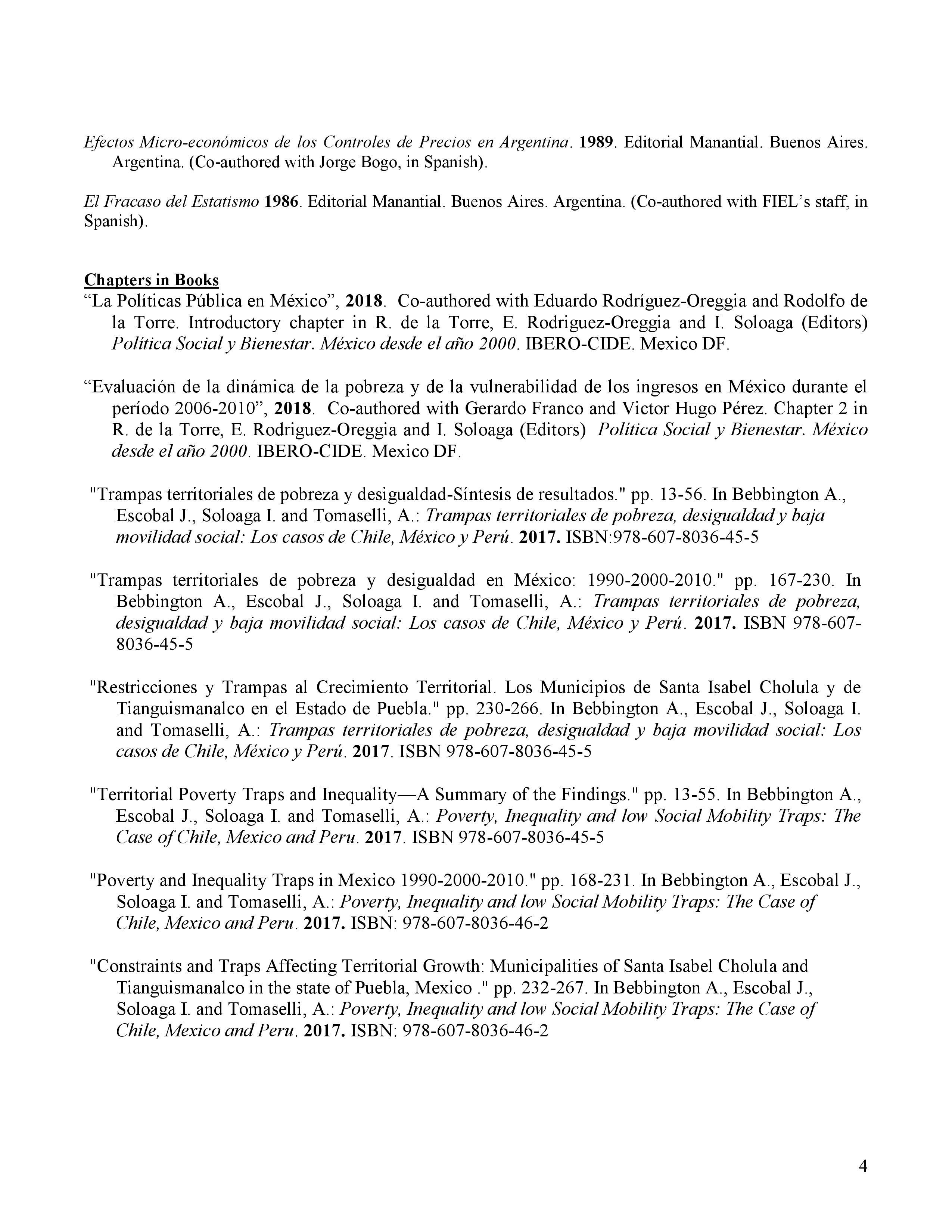 Curriculum Vitae Dr Isidro Soloaga Ibero Economia